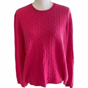 Investments Fine Cashmere Hot Pink Sweater